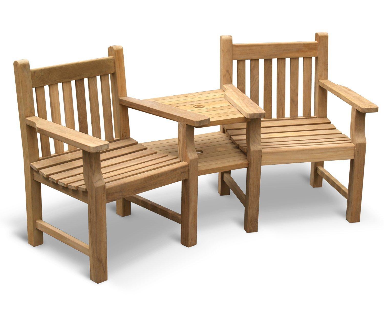 Jati Tavistock Teak 3 Seater FULLY ASSEMBLED Backless Garden Bench 1.5m