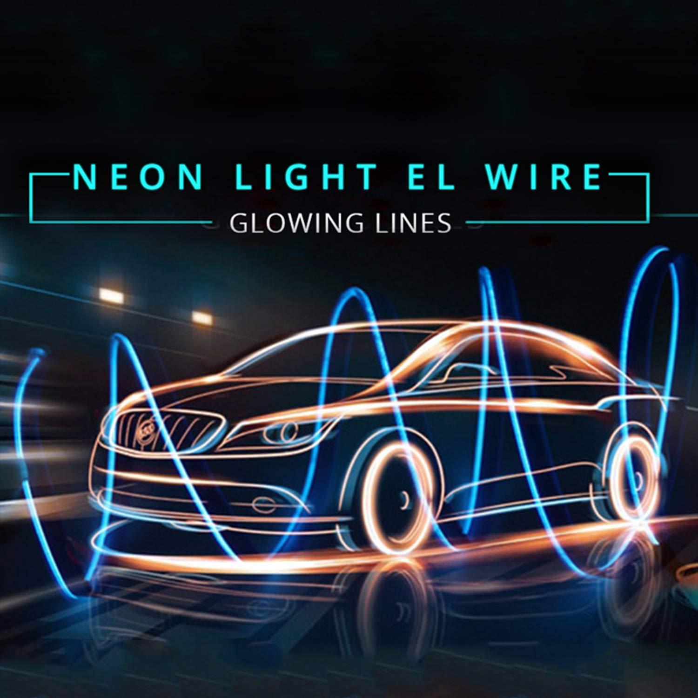 LED Strip Lights for Cars Interior,EL Wire Blue 6 56ft