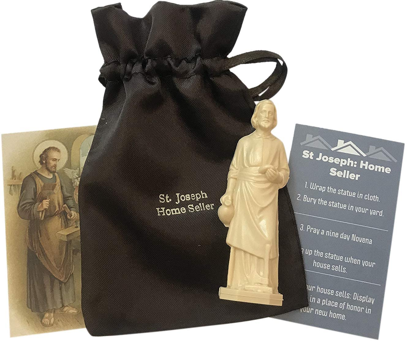 Westmon Works Saint Joseph Complete Home Selling Kit with Instructions Holy Card and Burial Bag