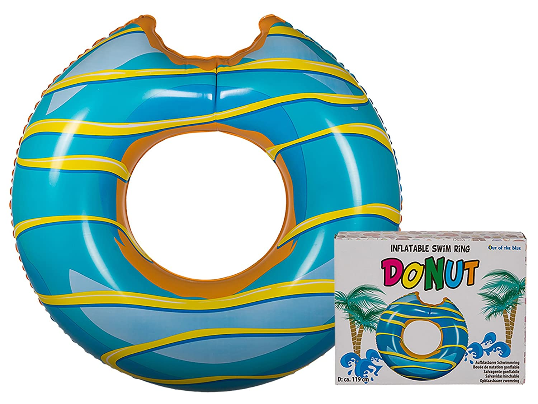 OOTB 91/4175 Flotador (Donut con Avisador de Donut Hinchable 36102 Aprox. Diámetro 120 cm Turquesa/Amarillo: Amazon.es: Juguetes y juegos