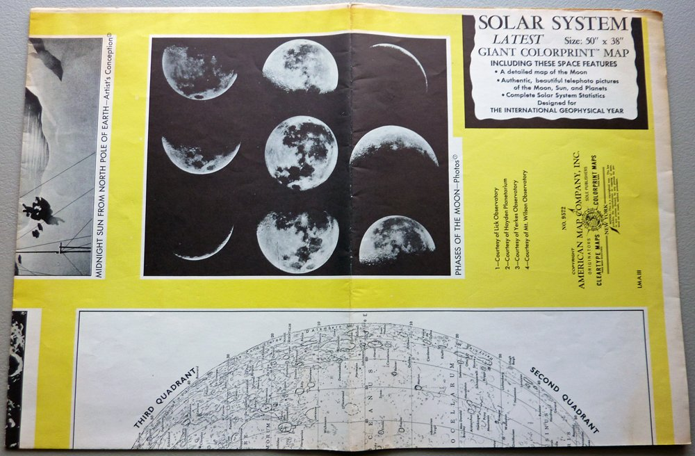 American Map Company Inc.Solar System Latest Giant Colorprint Map 50 X 38 50 S Or 60 S