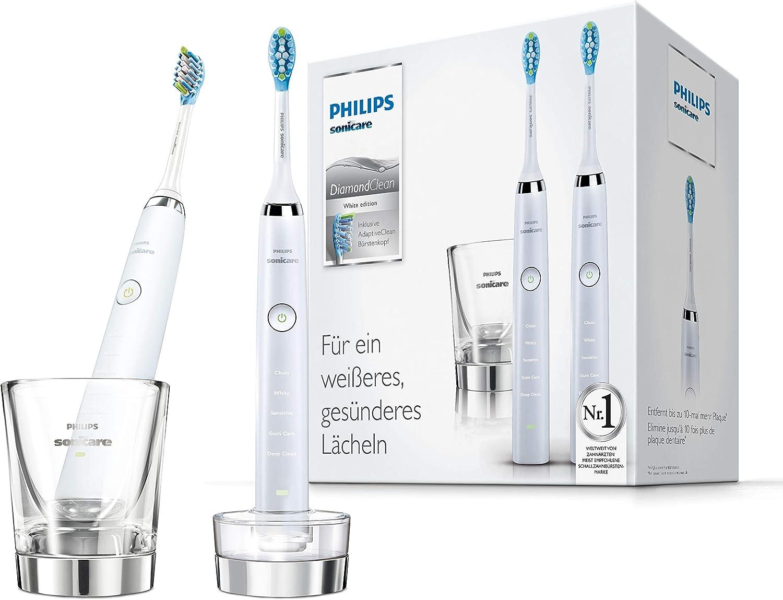 Philips Sonicare HX9327/87 Lot de 2 brosses à dents électriques DiamondClean - Blanc