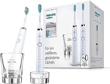 Philips Sonicare DiamondClean HX9327/87 - Pack 2 cepillos de dientes eléctricos recargables, 5 modos, 2 cabezales, vaso cargador, Color Blanco: Amazon.es: Salud y cuidado personal