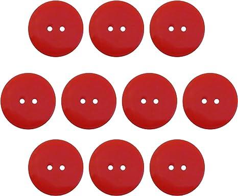 10 Pieces Resin Black Seeking ROAM Buttons 2 Hole Black 1 Inch