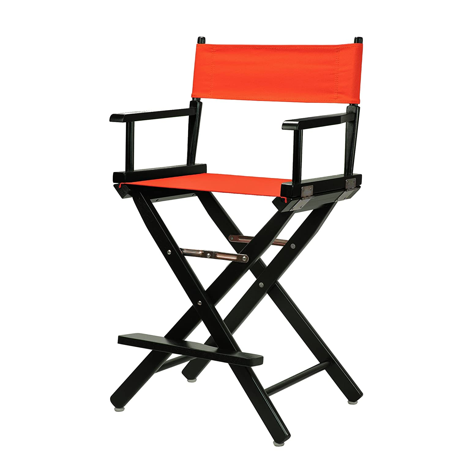 orange 24-Inch Casual Home 24-Inch Director Chair Black Frame, Hunter Green Canvas