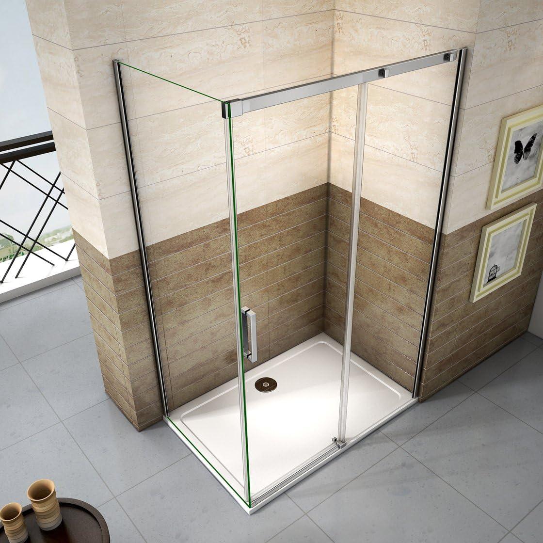 140x70x195cm Mamparas de ducha cabina de ducha 8mm vidrio templado de Aica: Amazon.es: Bricolaje y herramientas