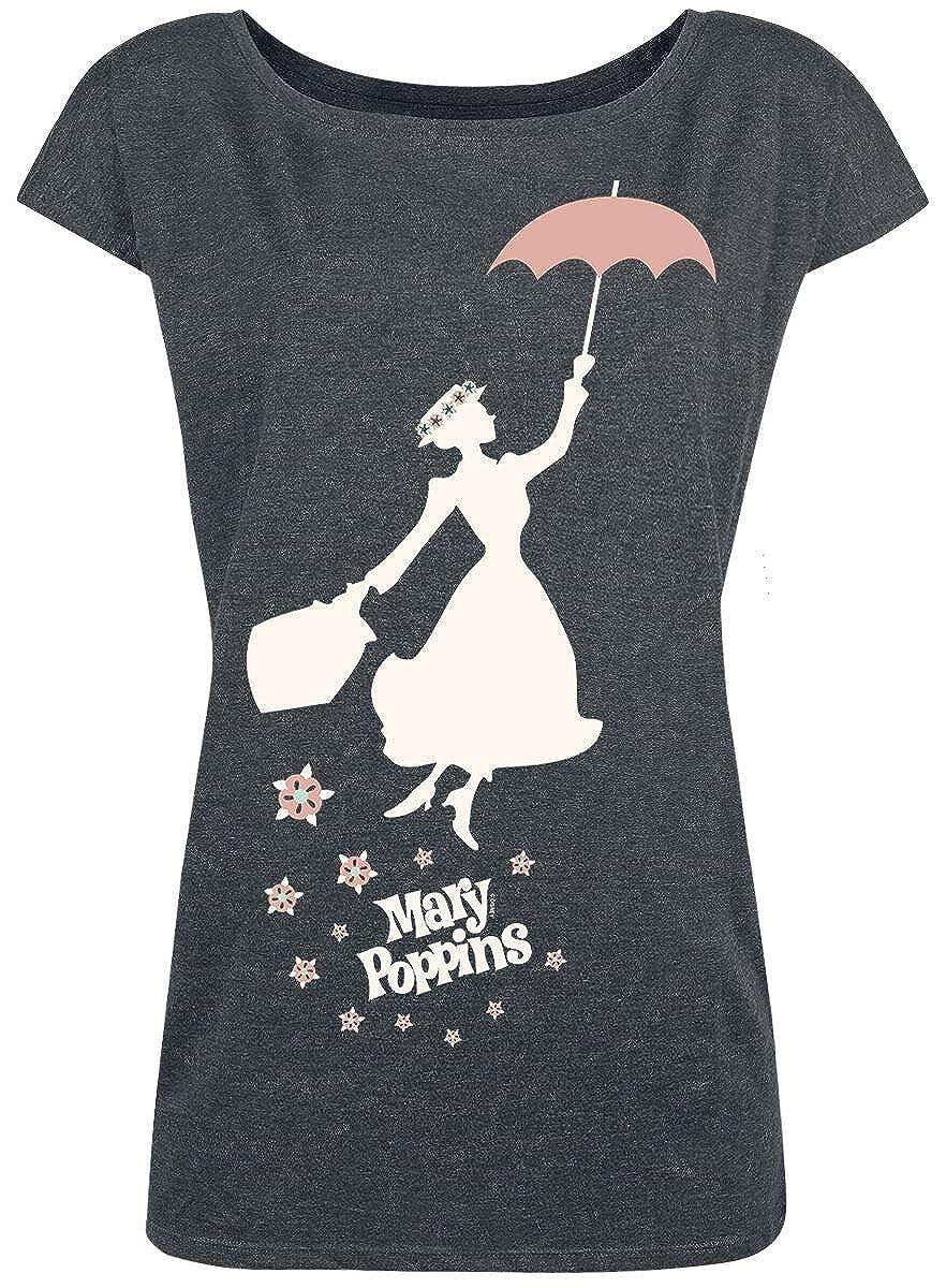 Mary Poppins Umbrella Girl Loose Shirt grau-meliert