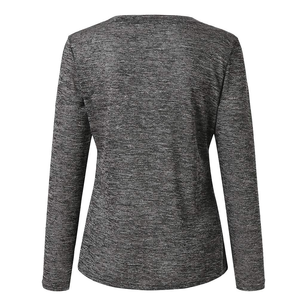 Crewneck Neck Pullover Casual T-Shirts Sweatshirts Blouses TOOPOOT Women Spring Autumn Blouses