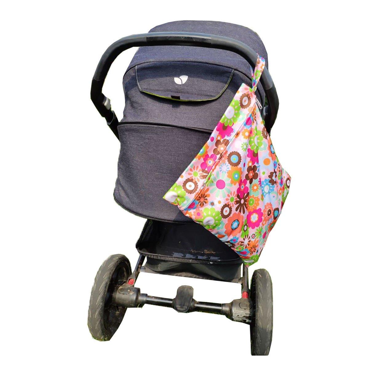 caseroxx Wet Bag Windel Tasche in Auto Muster aus PEVA
