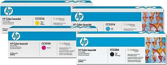 Hp Original Toner Multipack Cc530a Cc531a Cc532a Cc533a Suitable For Hp Color Laserjet Cm2320fxi Cm2320nf Cp2025 Cp2025n Dn Bürobedarf Schreibwaren
