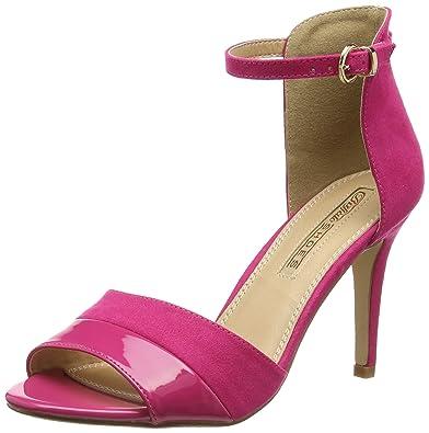 d027a89afec8 Buffalo Women s 312339 Patent PU IMI Suede Wedge Heels Sandals