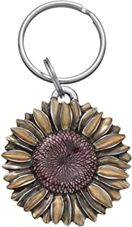 product image for DANFORTH - Sunflower Keyring (Summer) - 2 Inches - Pewter - Key Fob - Handcrafted - Made in USA