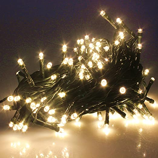 Yosion 100 1000 led string fairy lights on dark green cable with 8 light effects