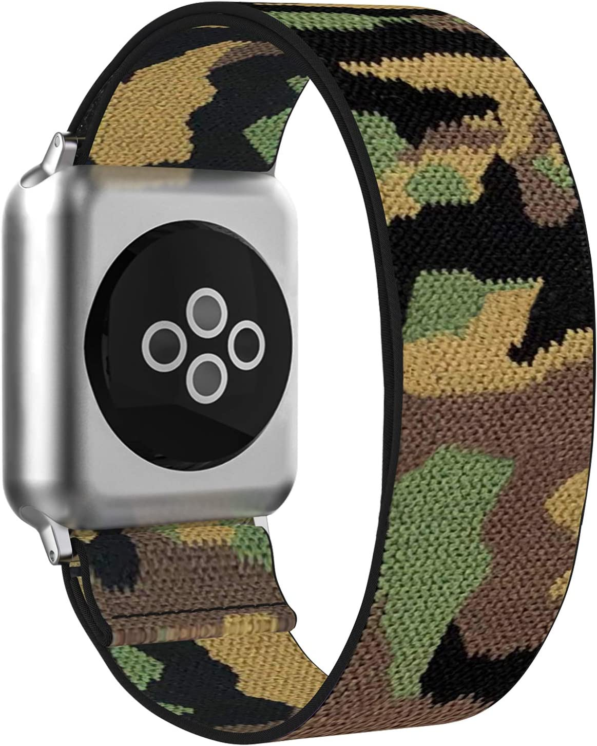 BMBEAR Stretchy Strap Loop Compatible with Apple Watch Band 42mm 44mm iWatch Series 6/5/4/3/2/1 Camouflage