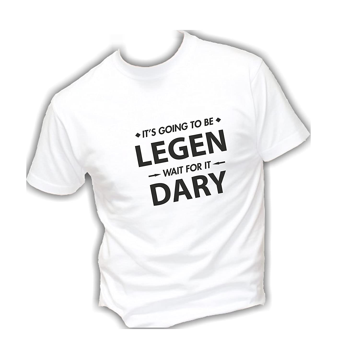 Divertente Humor Made in Italy Legendary Social Crazy T-Shirt Uomo Cotone Basic Super vestibilit/à Top qualit/à