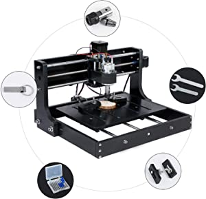 L&Z CNC Router Engraver-3020 Wood Milling Machine, Mac OS/Windows Supported, 3 Axis XYZ Carve, with USB Flash Drive(instruction and software)