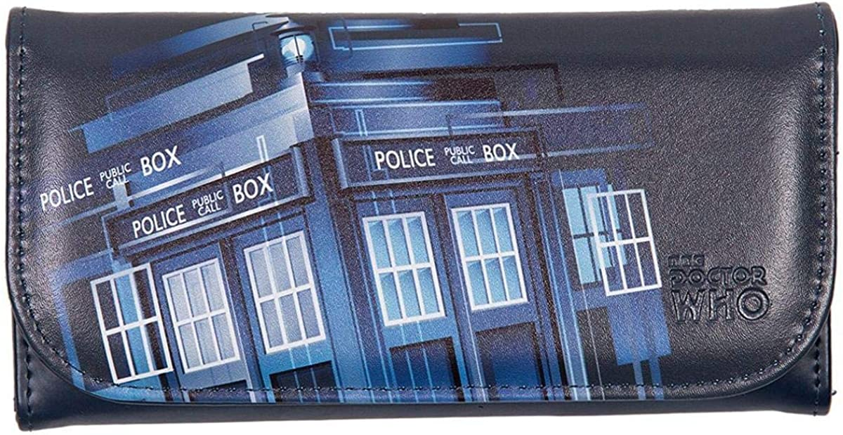 Doctor Who Purse - Embossed Women's Wallet - Gradient TARDIS Design: Clothing
