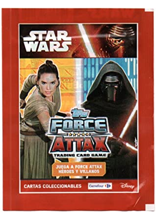 SOBRE DE CARTAS CROMOS SIN ABRIR STAR WARS 2010 THE FORCE ATTAX. CARTAS COLECCIONABLES