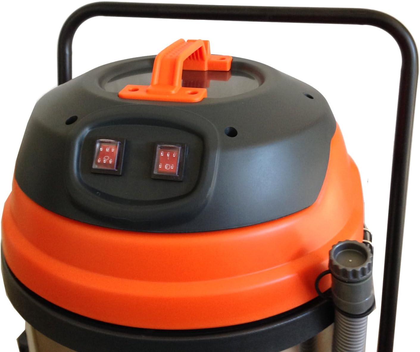 Aspiradora Industrial húmeda/Seca – 2 Motores – 21 galones JM773: Amazon.es: Hogar