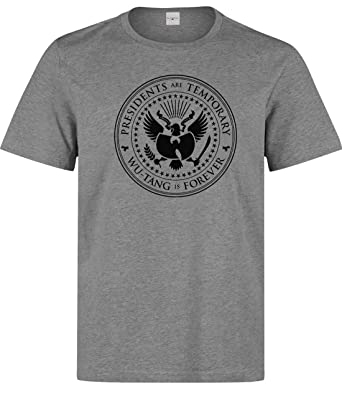 6f04dc82563 Nothingtowear Homme Presidents are Temporary WU Tang is Forever T-Shirt  Gris S