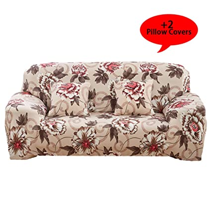 Aibixi Stretch Sofa Slipcover Printed Sofa Cover Spandex Fabric Couch  Covers Stylish Furniture Shield/Protector (90\
