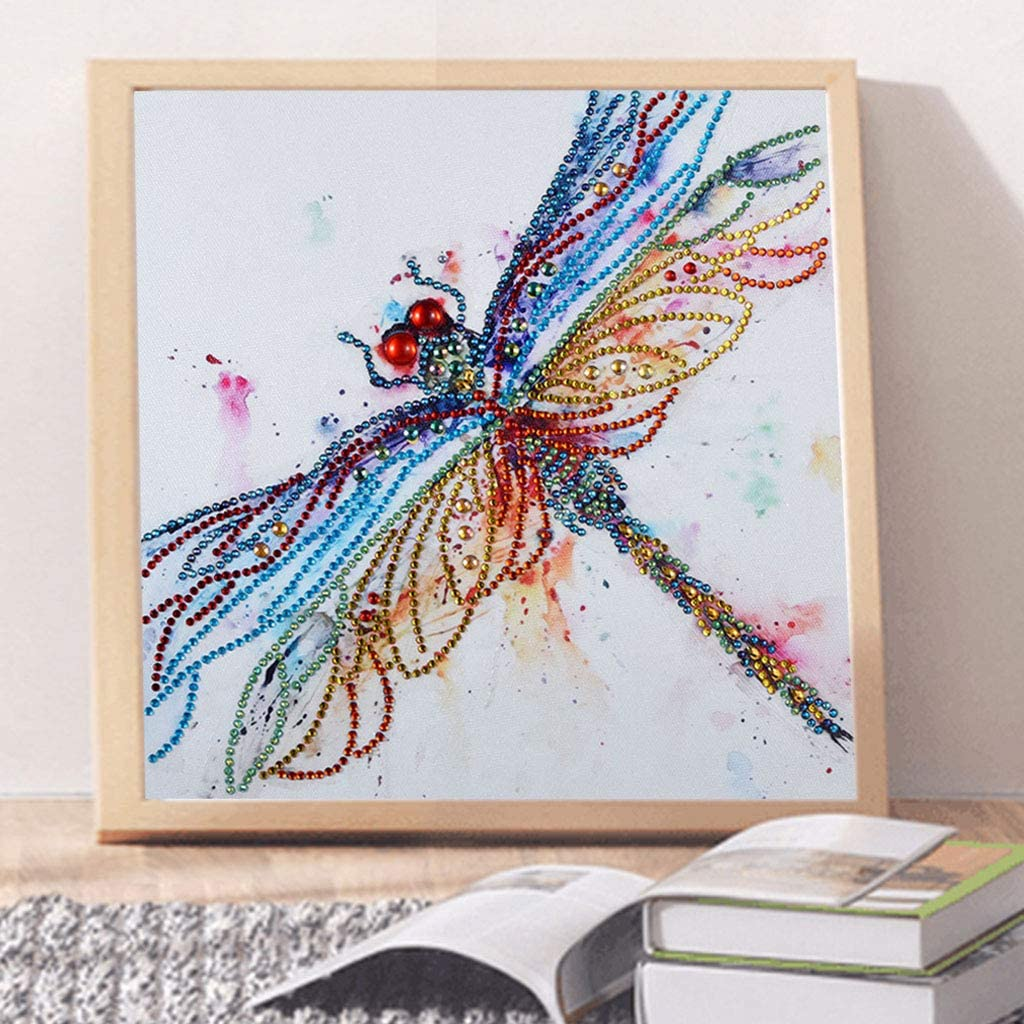 5D Diamond Painting feilin Insect Diamond Painting Kit DIY Diamond Rhinestone Painting Kits for Adults and Beginner Embroidery Arts Craft Home Decor 30x30cm