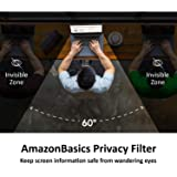 AmazonBasics Privacy Screen Filter for 14 Inch 16:9 Widescreen Monitor