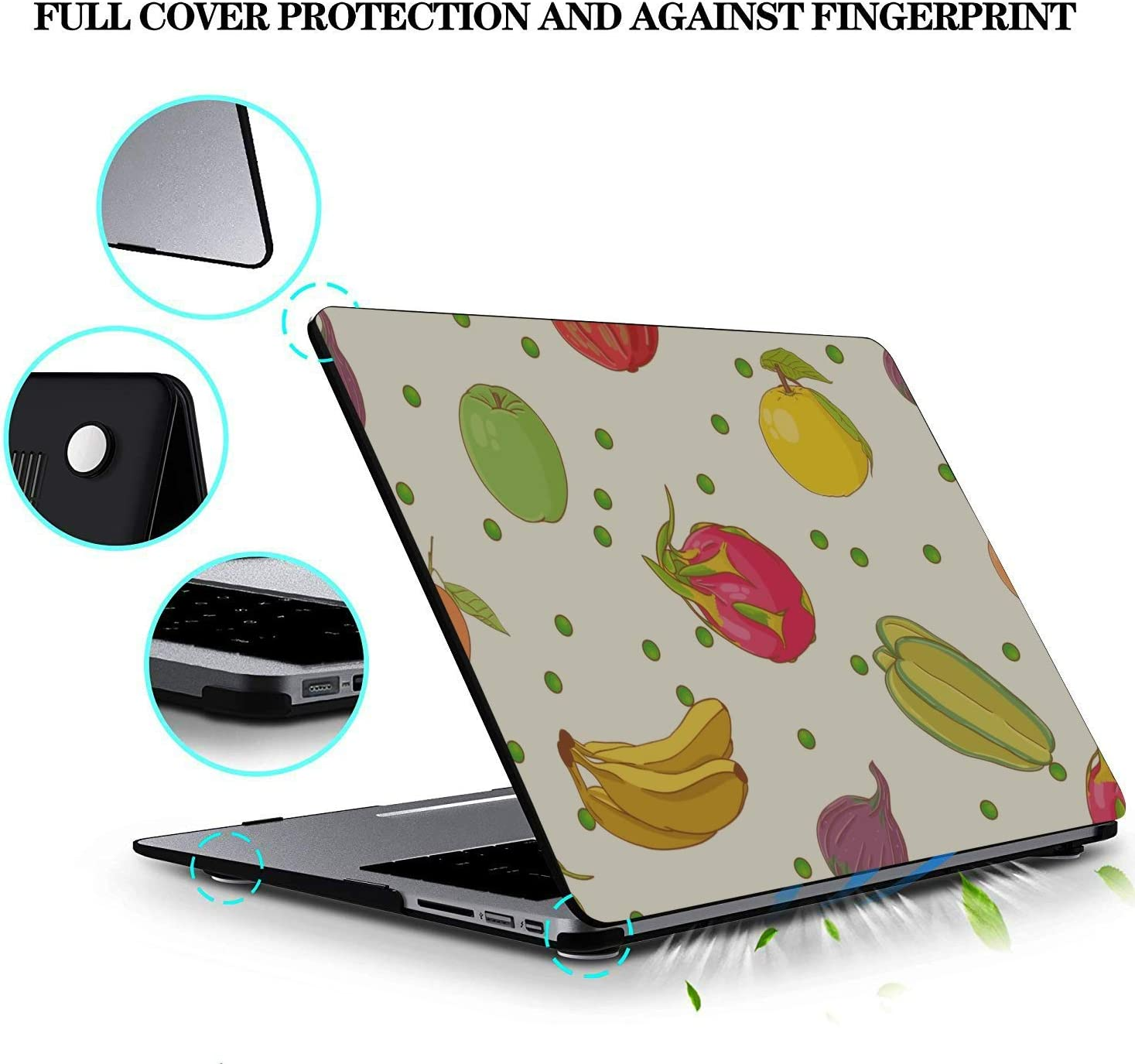 Mac Computer Case Summer Sweet Art Cool Fruit Dragon Plastic Hard Shell Compatible Mac Air 11 Pro 13 15 MacBook Pro 13in Case Protection for MacBook 2016-2019 Version