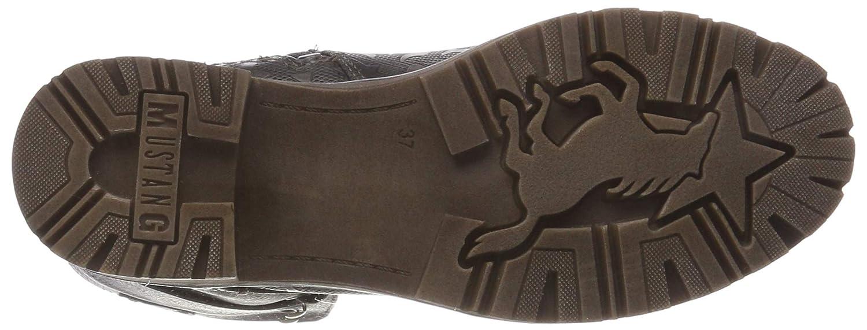 Mustang Damen Kurzschaftstiefel Kurzschaftstiefel Damen Stiefeletten Grau (Dunkelgrau 20) 77b44a