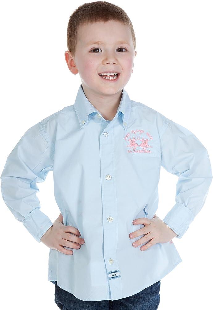 La Martina - Camisa - para niño Rosa Hellblau 4 años: Amazon.es: Ropa y accesorios