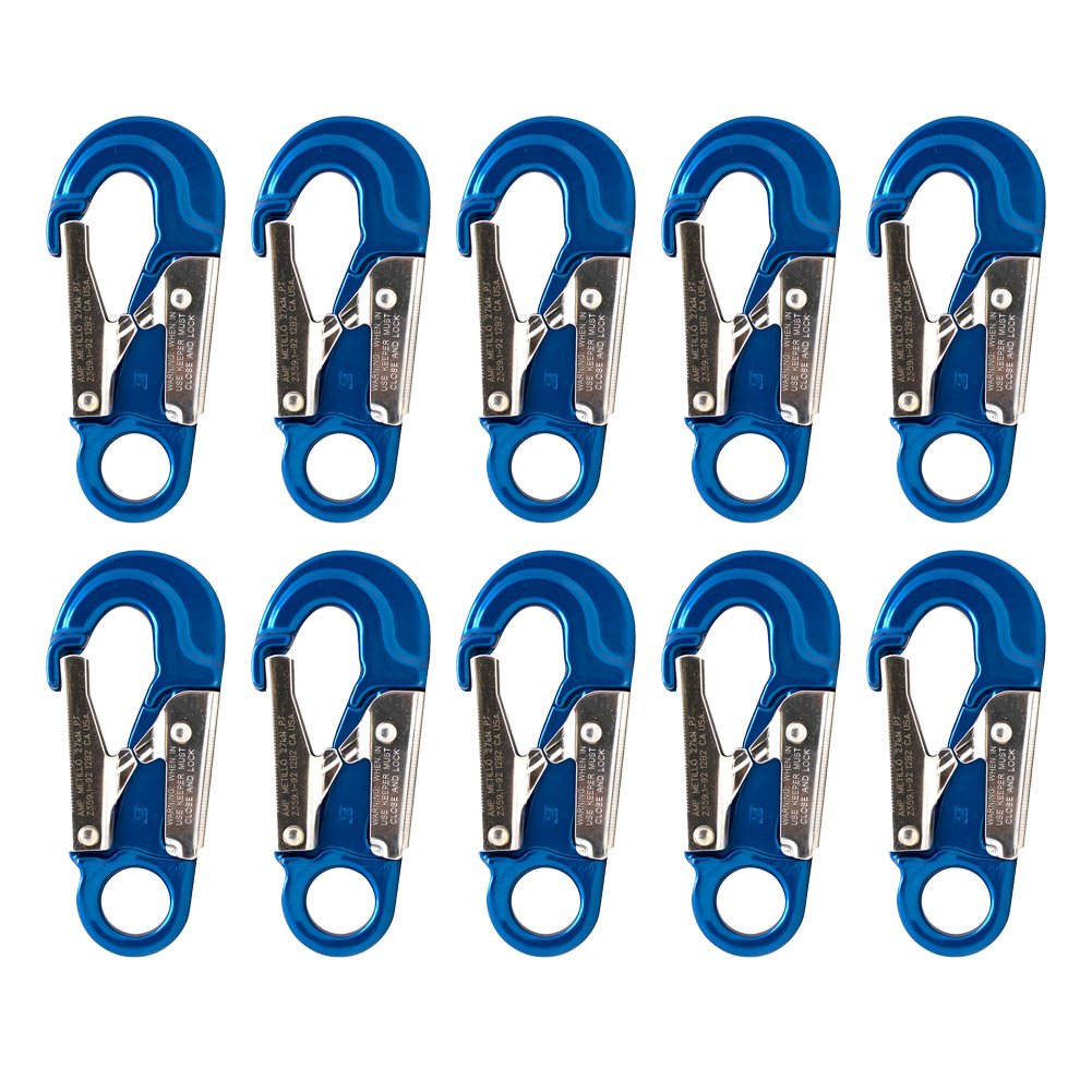 Fusion Climb Metillo Aluminum Double Lock Captive Eye Forged Snap Hook 10-Pack by Fusion Climb
