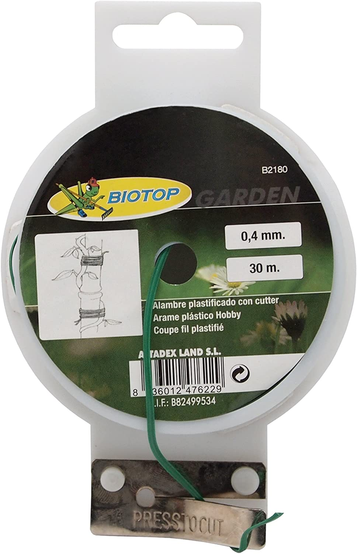 B2180 30 m Biotop Alambre plastificado Hobby 0,4 mm de Grosor