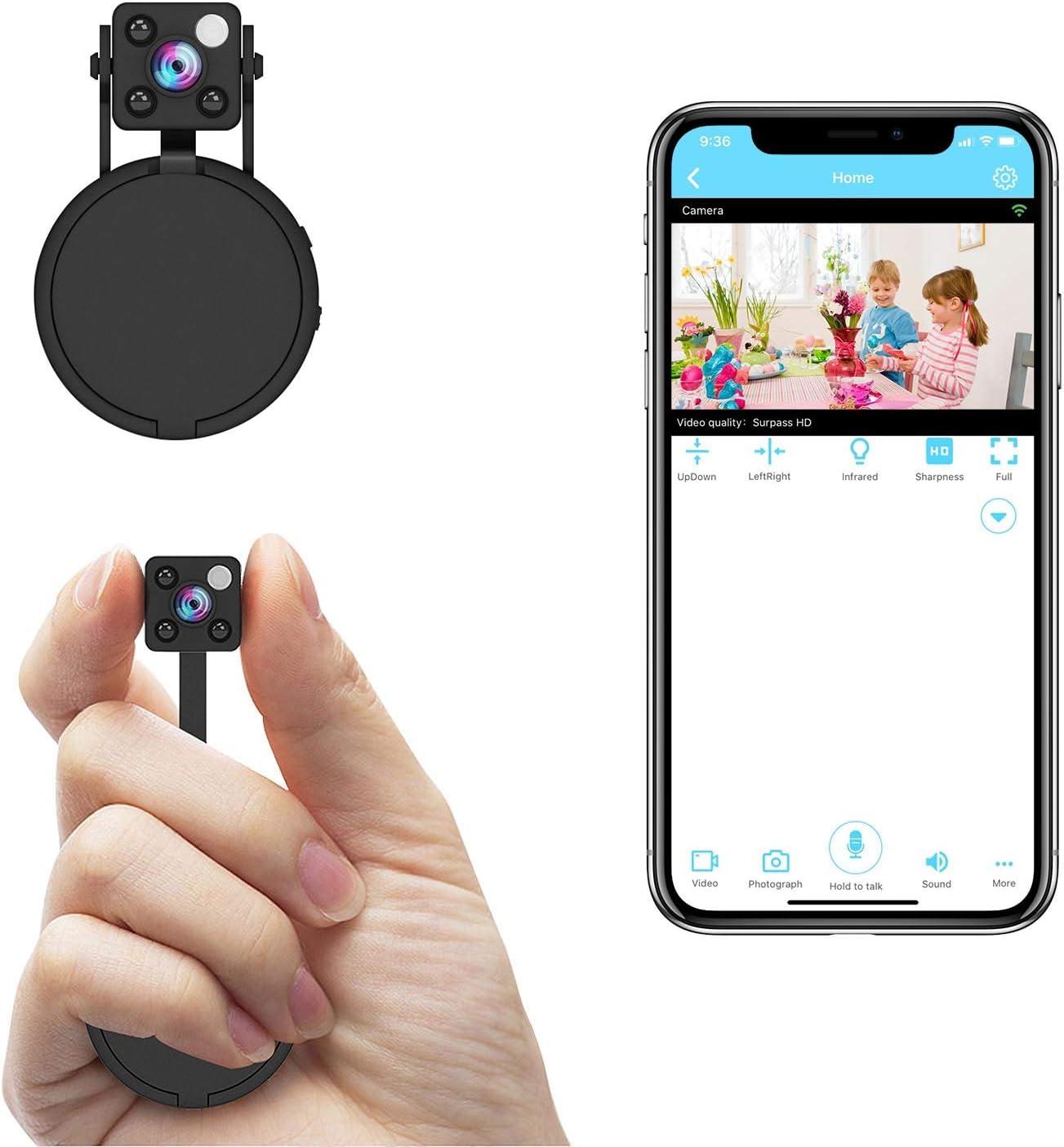 Relohas 1080P Mini Spy Hidden Camera WiFi – Car Seat Hidden Camera
