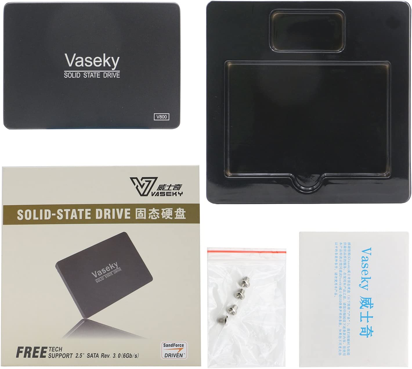 Ai5G for Vaseky SATA SSD Internal Solid State Drives 2.5 Inch Computer Hard Drive 480G