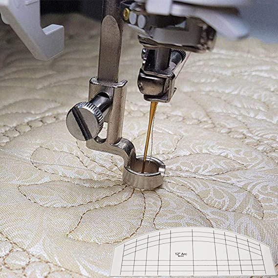 HONEYSEW Quilters Template Ruler Every Curve Set of 3 for Domestic Low Shank Sewing Machine Thickness