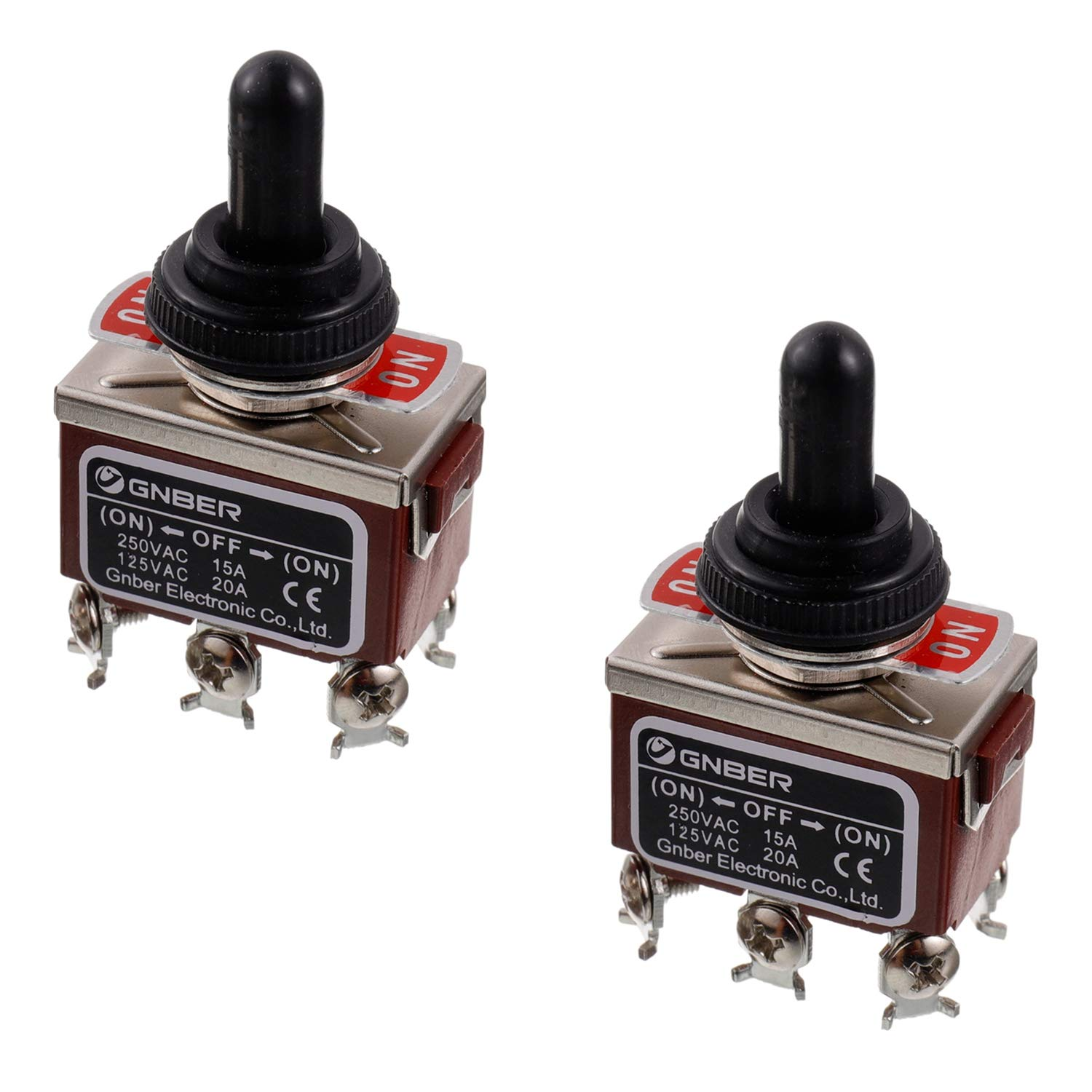 3 PCS 6-pin 3 Position Momentary On-Off-Momentary On Toggle Switches 15A 250V