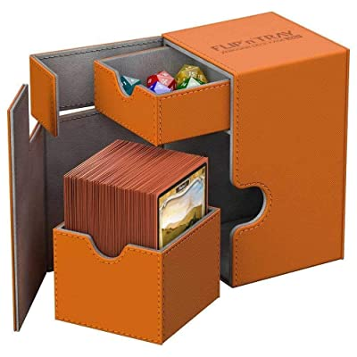 Ultimate Guard - Deck Box: Flip N Tray Xenoskin 100 Orange: Toys & Games