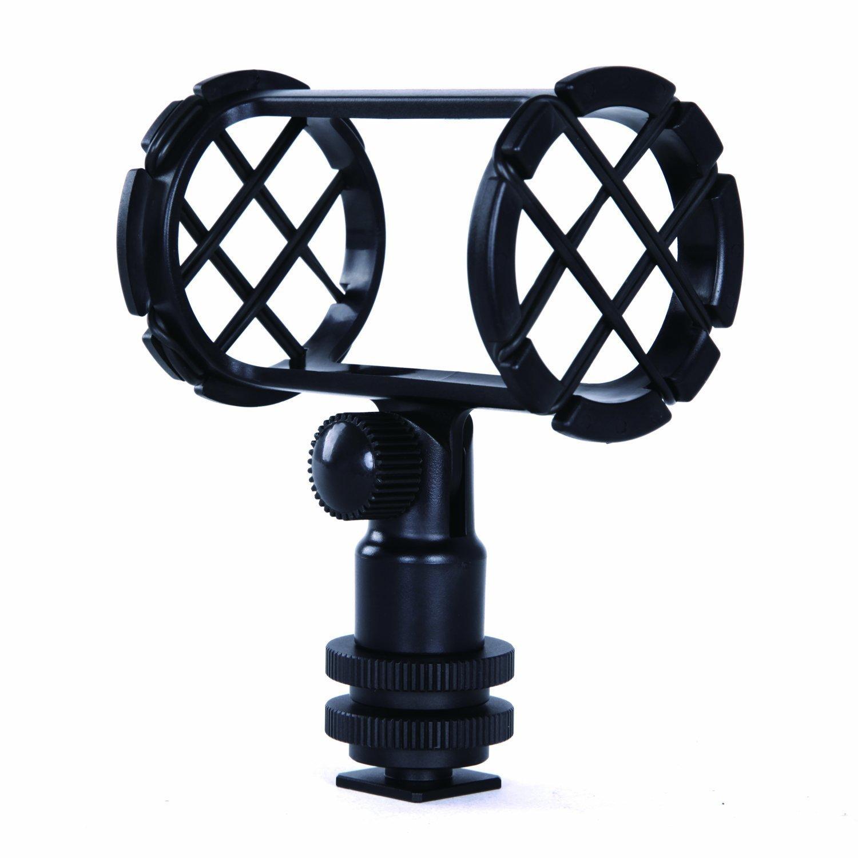 Bati Anti-Choc d'appareil Photo Movo SMM1 pour Microphones Canon de diamètre 19-25mm (Y Compris Le Rode NTG-1, NTG-2 et Le Sennheiser MKE-600)