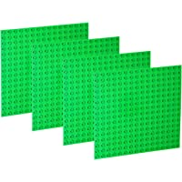 """EKIND 4 PCS Large Blocks Building Base Block Plate 10"""" x 10"""" - Compatible with Large Pegs for Toddlers, Building Block…"""