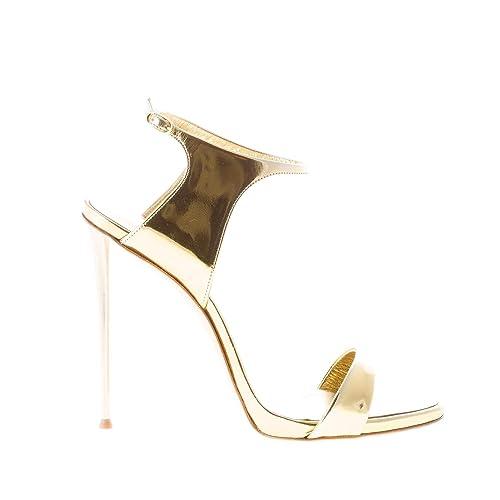 GIUSEPPE ZANOTTI DESIGN Donna Sandalo in Vernice Oro con Chiusura alla  Caviglia. Tacco 11 cm 72e38ec7add