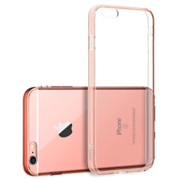 "iPhone 6s Plus Funda, JETech® Apple iPhone 6 Plus / 6s Plus 5.5 Funda Carcasa Case Bumper Tope Shock- Absorción y Anti-Arañazos Borrar Espalda para iPhone 6s Plus 6 Plus 5.5"" (Oro Rosa)"