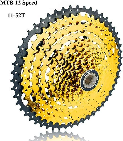 Liu Yu·casa creativa 12 Velocidades 11-52T Bicicleta Freewheel ...