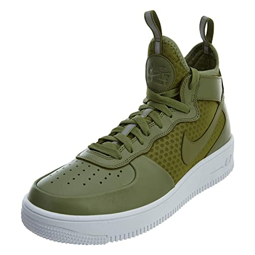 new concept fa6f1 f3277 NIKE Hombres 864014-301 10.5 Nike Air Force 1 Ultraforce Mid Palm  Verde Blanco para Hombre 864014-301 10,5 D(M) US  Amazon.es  Zapatos y  complementos