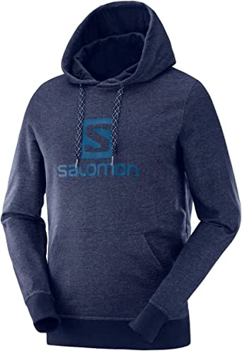 SALOMON Logo Hoodie M Sudadera Deportiva, Algodón/Elastano, Hombre, Azul (Night Sky): Amazon.es: Ropa y accesorios