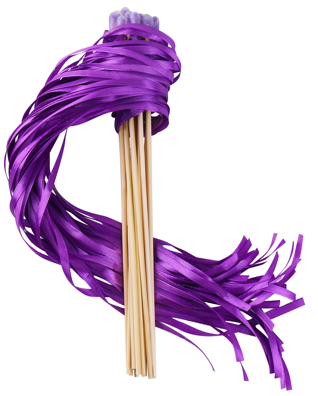 Wishprom Ribbon Wands Sticks Streamers for Wedding Party Favor (Purple-30PCS)