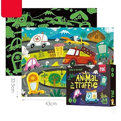 DYTesa 96Pcs Noctilucence Puzzles Kids Educational Toy