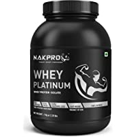 NAKPRO PLATINUM Whey Protein Isolate 90% (Raw, Pure, Unflavored USA made) -1 Kg