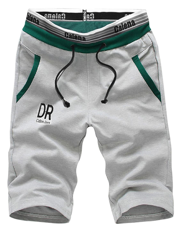Manluodanni - Pantalón Corto - para Hombre Gris Claro XL