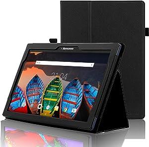 ACdream Lenovo Tab 2 A10 & Lenovo Tab3 10 Business Case, Folio Leather Cover Case for Lenovo Tab2 A10-70 / Tab2 A10-30 / TAB-X103F Tab 10 / Tab3 10 Business Tablet, Black