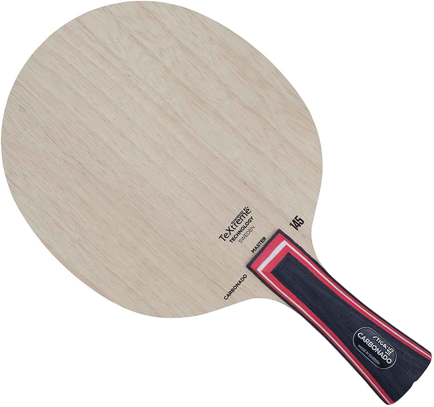 Stiga Carbonado 145 (Classic Grip) Table Tennis Blade, Wood, One Size